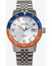Express Heritor Automatic Dominic Bracelet Watch Orange