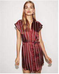 Express - Short Sleeve Shirt Dress - Lyst