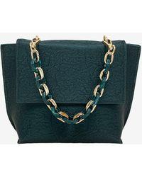 Express La Regale Kaylee Faux Leather Handbag Green