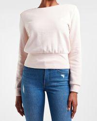 Express Padded Shoulder Sweatshirt Pink Xl