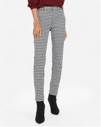 Express - Mid Rise Houndstooth Skinny Pant - Lyst