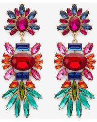 Express Multicolour Stone Drop Earrings