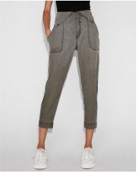 Express - High Waisted Snap Front Soft Jogger Pant - Lyst