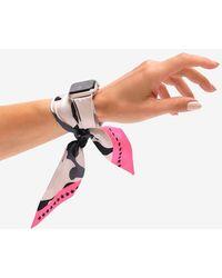 Express Wristpop Shadow Apple Watch Scarf Band Silver 42mm/44mm - Metallic