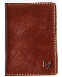 Express Muur Premium Leather Passport Holder Brown