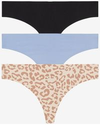 Express Honeydew Intimates Set Of 3 Thong Underwear Blue M