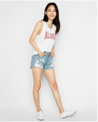 Express - Aloha Graphic Muscle Tank - Lyst