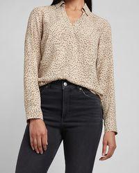 Express Cheetah Two Pocket Portofino Shirt Neutral Print - Multicolour