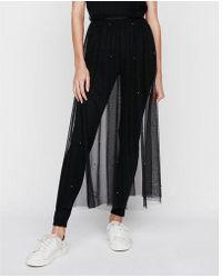 Express - High Waisted Sheer Tulle Midi Skirt - Lyst