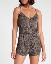 Express Knit Pyjama Romper Mossy Grey