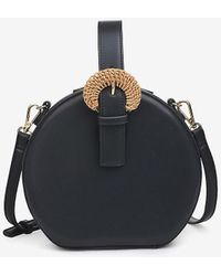 Express Urban Ions Millie Faux Leather Crossbody Bag Black