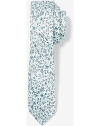 Express Narrow Micro Floral Tie - Green