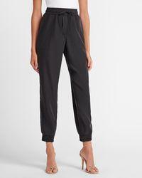 Express High Waisted Soft Drawstring Sweatpants Black S