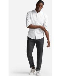 Express Slim Soft Wash Oxford Shirt - White