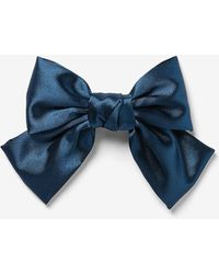 Express Bow Barette Blue