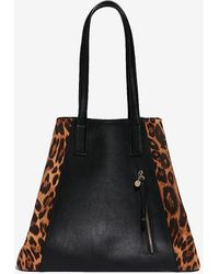 Express Leopard Tote - Brown