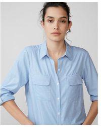 Express - Stripe Full Button Up Shirt - Lyst