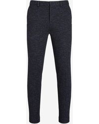 Express - Extra Slim Textured Blue Soft Suit Pants - Lyst