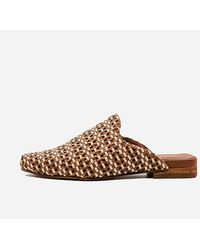 Express Kaanas Mustique Woven Square Toe Mule Brown 5