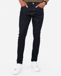 Express Super Skinny Dark Wash Hyper Stretch Jeans - Blue