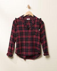Express Upwest Plaid Flannel Pyjama Top Red Xl