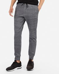 Express - Space Dyed Side Zip Joggers Black - Lyst