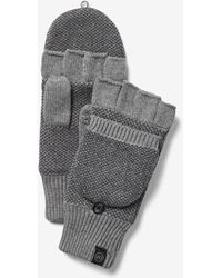 Express Flip Top Gloves Grey - Gray
