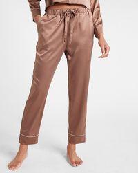 Express Satin Pyjama Pants Deep Taupe - Brown