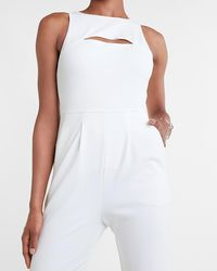 Express Sleeveless Cut-out Jumpsuit White
