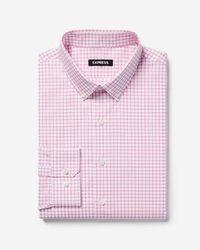Express - Extra Slim Check Button-down Dress Shirt - Lyst