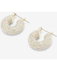 Express X Luv Aj Pave Mini Donut Hoop Earrings Gold - Metallic