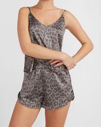 Express Satin Pyjama Shorts Grey Xs