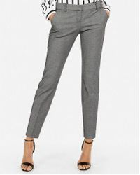 Express - Low Rise Columnist Ankle Twill Pant - Lyst