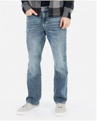 Express Classic Boot Light Wash Soft Cotton Stretch+ Jeans, - Blue