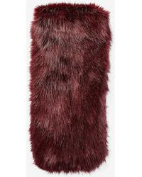Express Faux Fur Pull-through Oblong Scarf Red