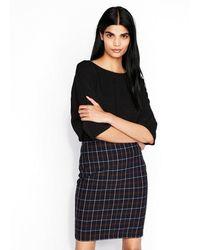 Express - High Waisted Plaid Pencil Skirt - Lyst