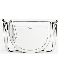 Express Half Moon Crossbody Bag - White