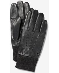 Express Leather Winter Gloves Black