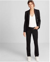 Express - Low Rise Straight Leg Editor Pant - Lyst