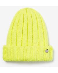 Express Ribbed Beanie Yellow