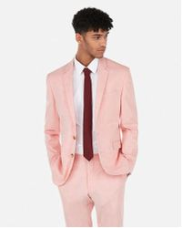 Express - Extra Slim Coral Stripe Stretch Suit Jacket - Lyst