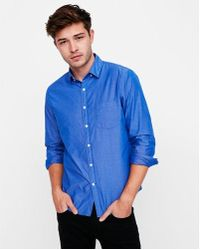 Express - Classic Fit Soft Wash Shirt - Lyst