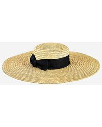 Express San Diego Hat Company Wheat Straw Wide Brim Boater Hat White