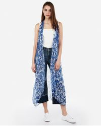 Express - Ikat Open Front Swim Cover-up - Lyst