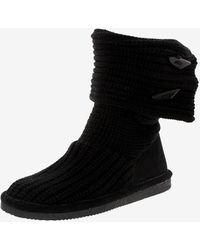 Express Bearpaw Knit Tall Boots Black 9
