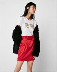 Express - Sash Tie Waist Midi Skirt - Lyst