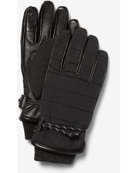 Express Genuine Leather Stretch Touchscreen Compatible Gloves Black