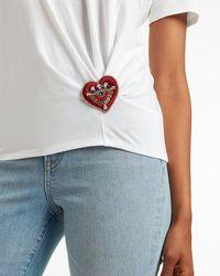 Express Evil Eye Heart Brooch - Multicolour
