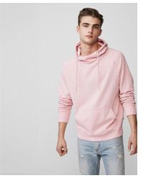 Express - Garment Dyed Funnel Neck Hoodie - Lyst