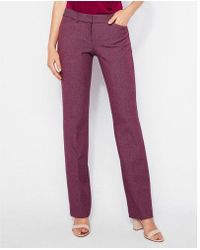 Express - Low Rise Twill Barely Boot Editor Pant - Lyst